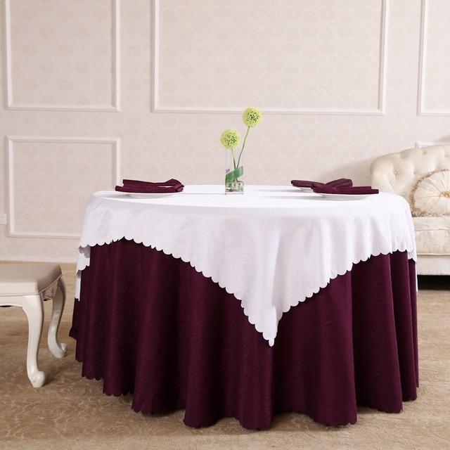 New Design Purple And White Jacquard Tablecloth Christmas Tovaglia Tavolo  Table Cloth Wedding Wrochet Deco Mariage