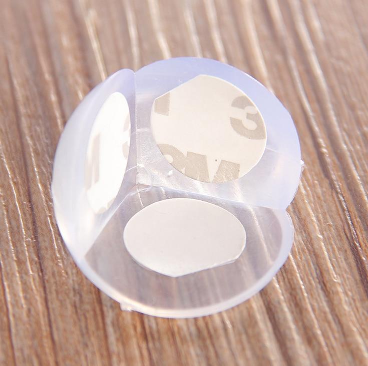 4 pzas/lote protectores redondos de borde de seguridad para niños protectores de esquina seguros suaves para bebés protectores de esquina de escritorio para bebés