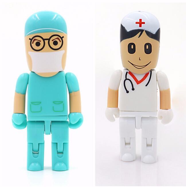 New arrival Doctors USB stick nurses memory stick Lovely pendrive cartoon usb flash drive 8gb pen drive 16gb 32gb 64g flash card