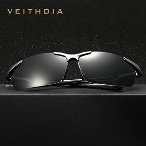 Image 4 - نظارة شمسية جديدة VEITHDIA مستقطبة للرجال من علامة تجارية مصممة للرجال نظارات شمسية كلاسيكية نظارة gafas oculos de sol masculino 6592