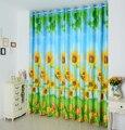 3D impressão girassóis cortina blecaute personalizado sala de estar quarto cortina cortinas da sala de crianças
