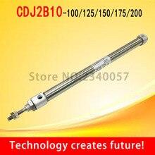 Миниатюрный из нержавеющей стали мини цилиндр двойной пневматический цилиндр CDJ2B10-100/125/150/175/200-B 10 мм диаметр
