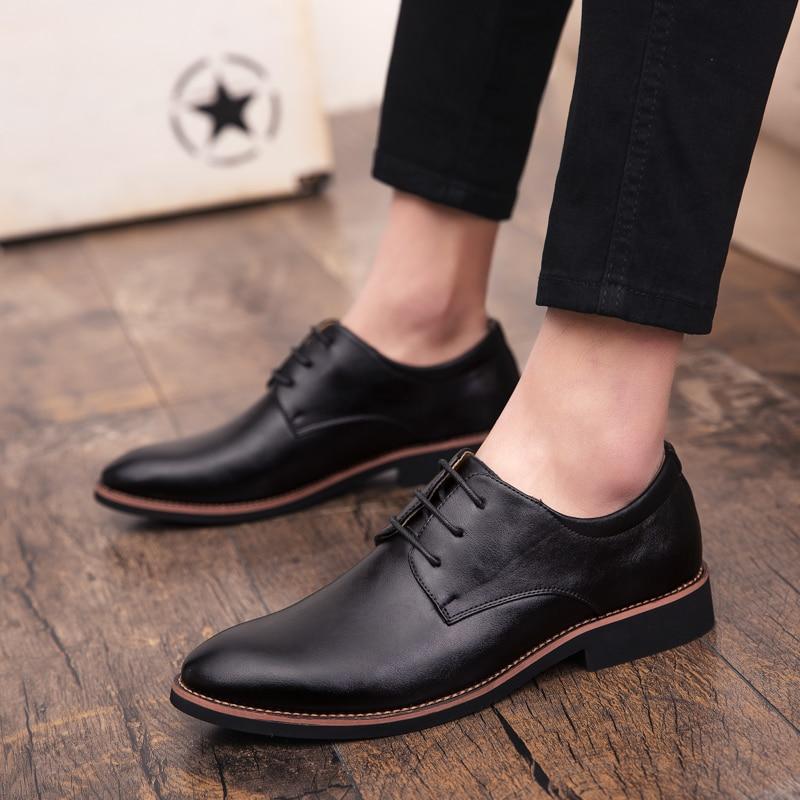 2019 Fashion Men Casual Shoes Outdoor New Spring Men Flats Lace Up Male Suede Leather Oxfords Men Shoes Zapatillas Hombre P4