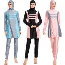 Plus Size Muslim Women Swimwear Islamic Swimsuit For Hijab Full Coverage Beachwear Swim Suit