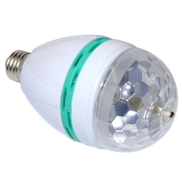 E27 3W RGB LED Mini Party Light Dance Party Lamp Holiday Lights Auto Rotating full color Bulb for dancing KTV DJ show decoration