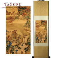 Silk Scroll Painting Quick Promotion In The Year Of Monkey Picture Quality Chinese Painting Good Wish