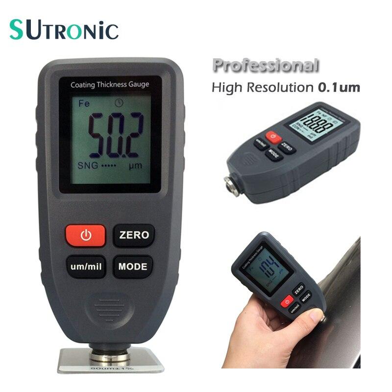 TC-100 Digital da Espessura de Revestimento Tester Medidor de Medição De ultra precisão 0.1um Resolução Fe/NFe 0 ~ 1300um Revestimentos Da Pintura Do Carro