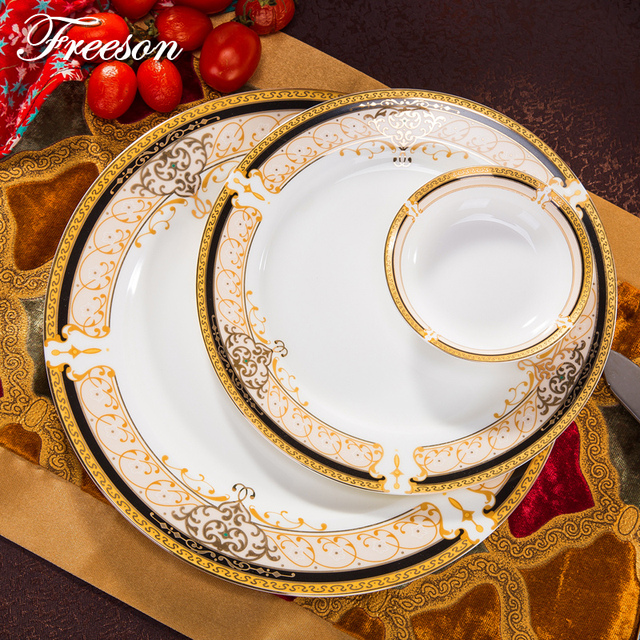 Europe Vienna Royal Bone China Dishes And Plates Top Porcelain Cake Pastry Fruit Dinnerware Ceramic Tableware : royal dinnerware - pezcame.com