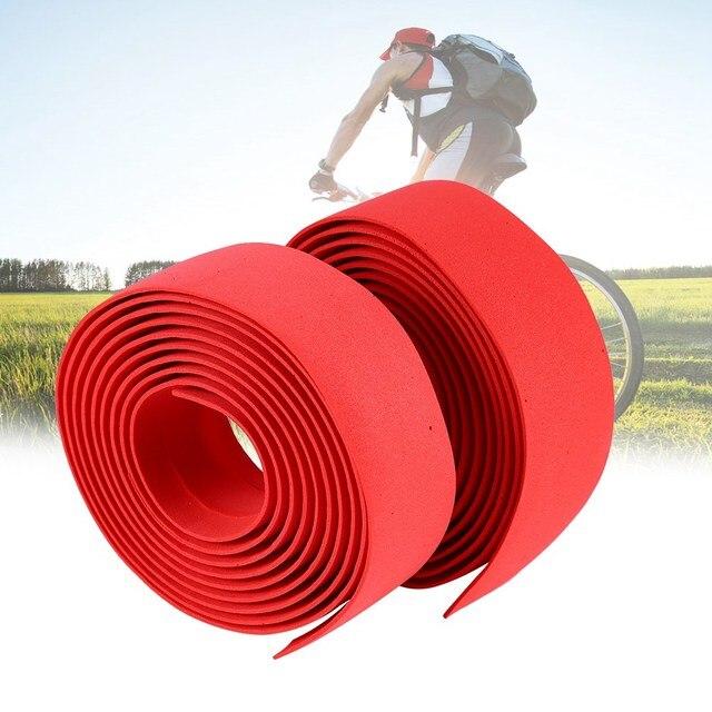 Soft Foam Cycling Road Bike Bicycle Handlebar Tape Belt Reflective Grip Wrap Anti-Slip Anti-Sweat Strap With 2 Bar Plugs 2