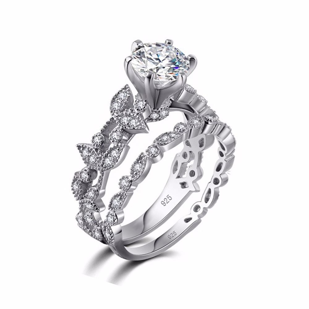 70% OFF !  Luxury 925 Silver Ring Set for Women 2
