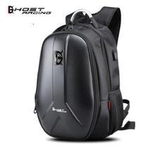 GHOST RACING Waterproof Motorcycle Bag Motorcycle Backpack Tank Bag Carbon Fiber Moto Motorbike Helmet Bags Travel Luggage # недорого