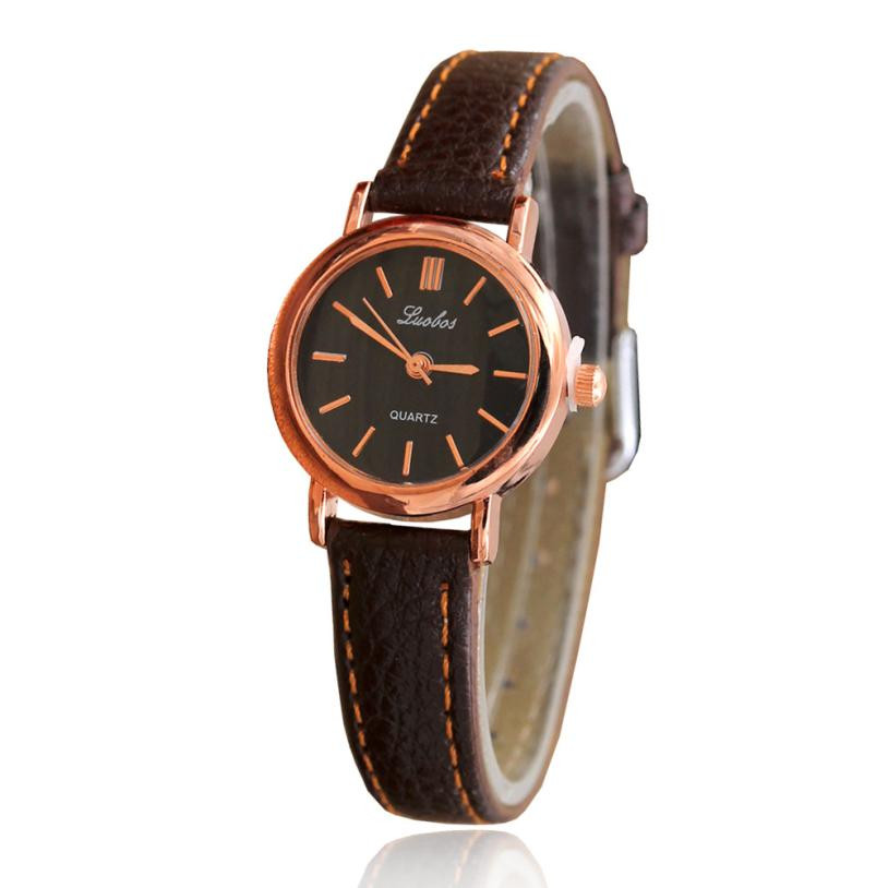 Simple Ladies Elegant Watch Women Roman Numerals Small Dial Watches Business Style Womens Casual Leather Quartz Wrist Watch #LH roman numerals dial artificial leather watch