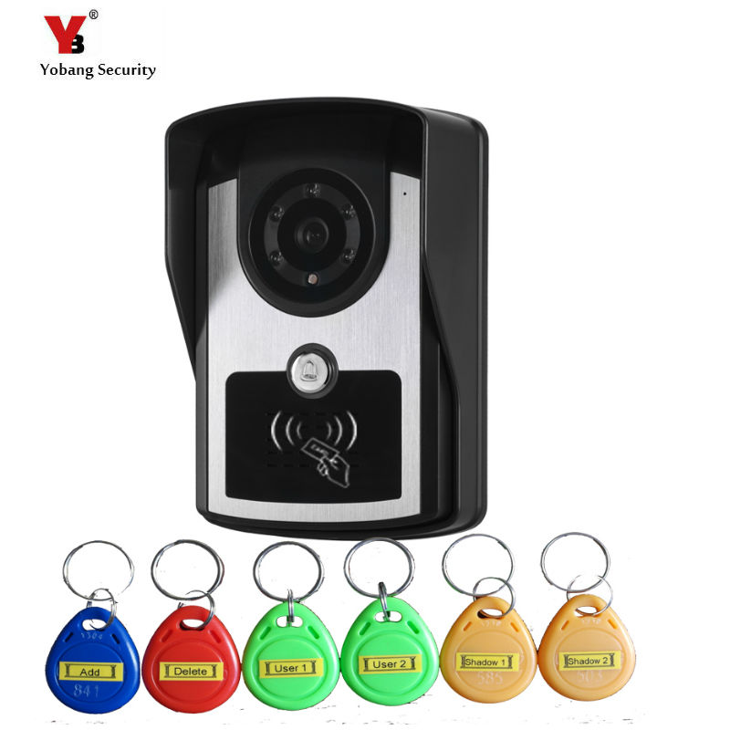 Yobang Security Color Camera With 5PCSS RFID Keyfobs Outdoor Unit  Doorphone Video Intercom Camera Not Including Indoor Screen Yobang Security Color Camera With 5PCSS RFID Keyfobs Outdoor Unit  Doorphone Video Intercom Camera Not Including Indoor Screen