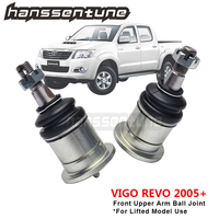4WD Front 25mm Greasable Extended Front Upper Ball Joints For Hilux Vigo GGN25 KUN26 REVO 2005 2017