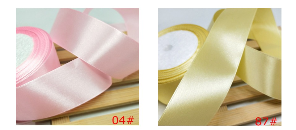 HL 5 meters 15/20/25/40/50mm Solid Color Satin Ribbons Wedding Decorative Gift Box Wrapping Belt DIY Crafts