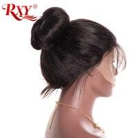 Pré Pincées Full Lace Perruques de Cheveux Humains Avec Bébé Cheveux RXY sans colle Pleines Perruques de Lacet Droites Pour Les Femmes Aucun Remy Noir Brésilien perruque