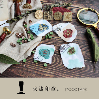 moodtape personality stamp wood wax seal stamp for DIY Gift / Invitation  album Decorative stamp mushroom dark metal stamp seal vintage skull cross sword caribbean pirate picture letter wedding invitation wax seal stamp sticks melting spoon gift box set