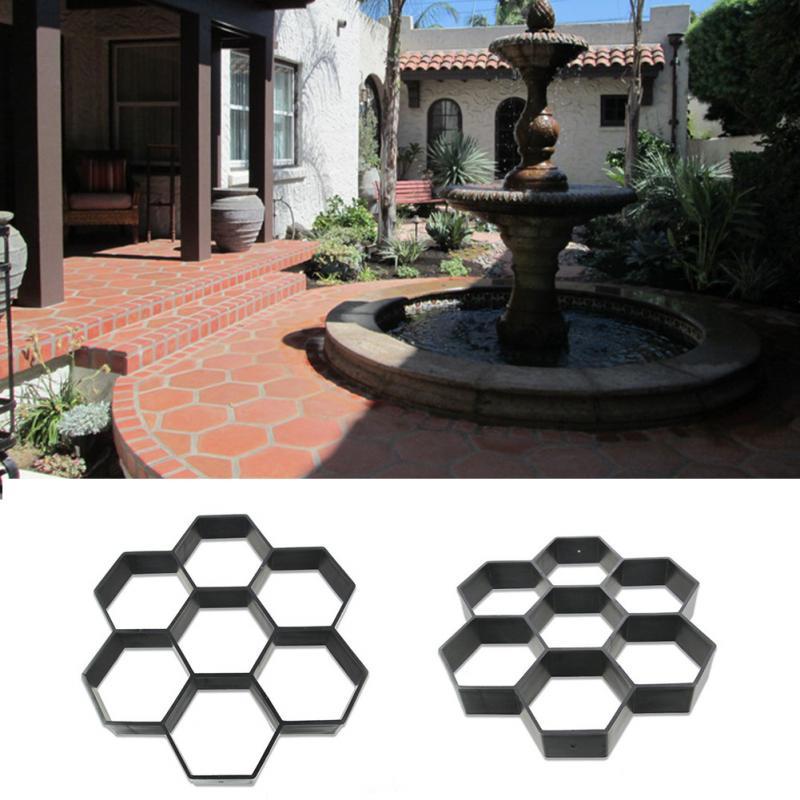 Garden Stone Walk Maker Mould DIY Pavement Concrete Mold Driveway Paving  Brick Patio Moldes Para Concreto