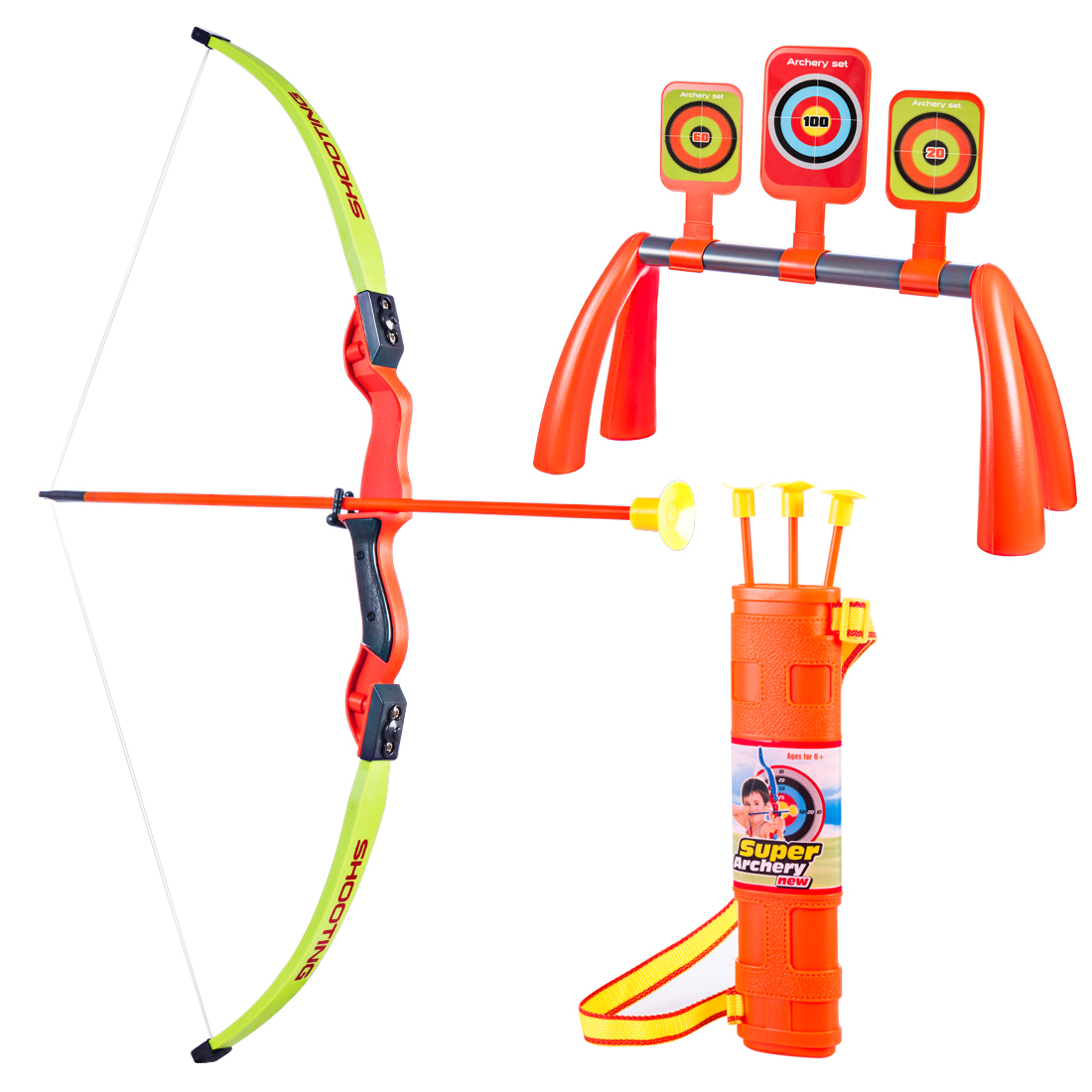 New Hot 1 Set Children Outdoor Simulation Bow And Arrow Set Sports Shooting Toys Learning Educational Toys For Children
