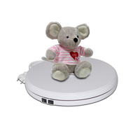 15KG 25cm LED Light Rotating Display Turntable Stand Base For Jewelry Hobby Collectible