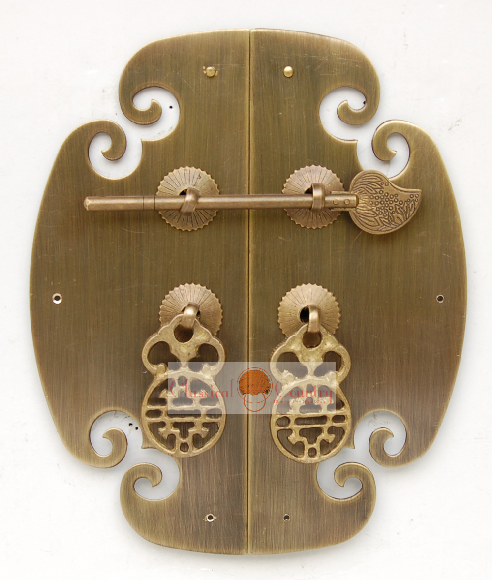 chinese furniture cabinet vintage brass hardware for face plate copper pull handle 69china brass furniture