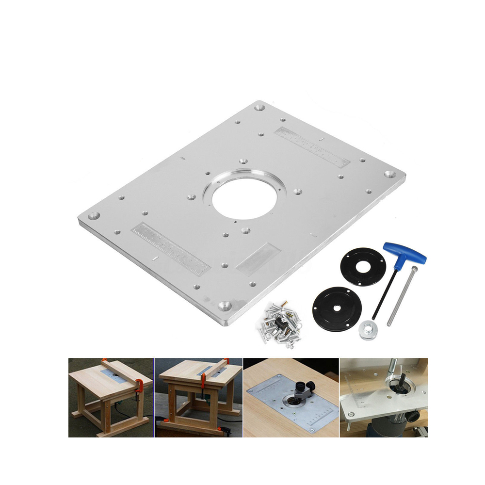 Aluminum plunge router table insert plate w ring for diy aluminum plunge router table insert plate w ring for diy woodworking work bench in wood routers from tools on aliexpress alibaba group keyboard keysfo Gallery