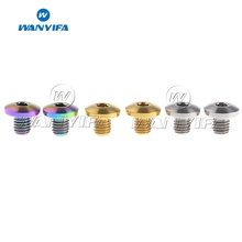 Wanyifa 2pcs Titanium M5 Oil Cap Bolts Gold Rainbow for Bicycle Brake