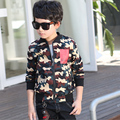 Big boys autumn and spring coat 2016 children clothes for kids camouflage coat jacket boy blazer cardigan 8 to 15 years unisex
