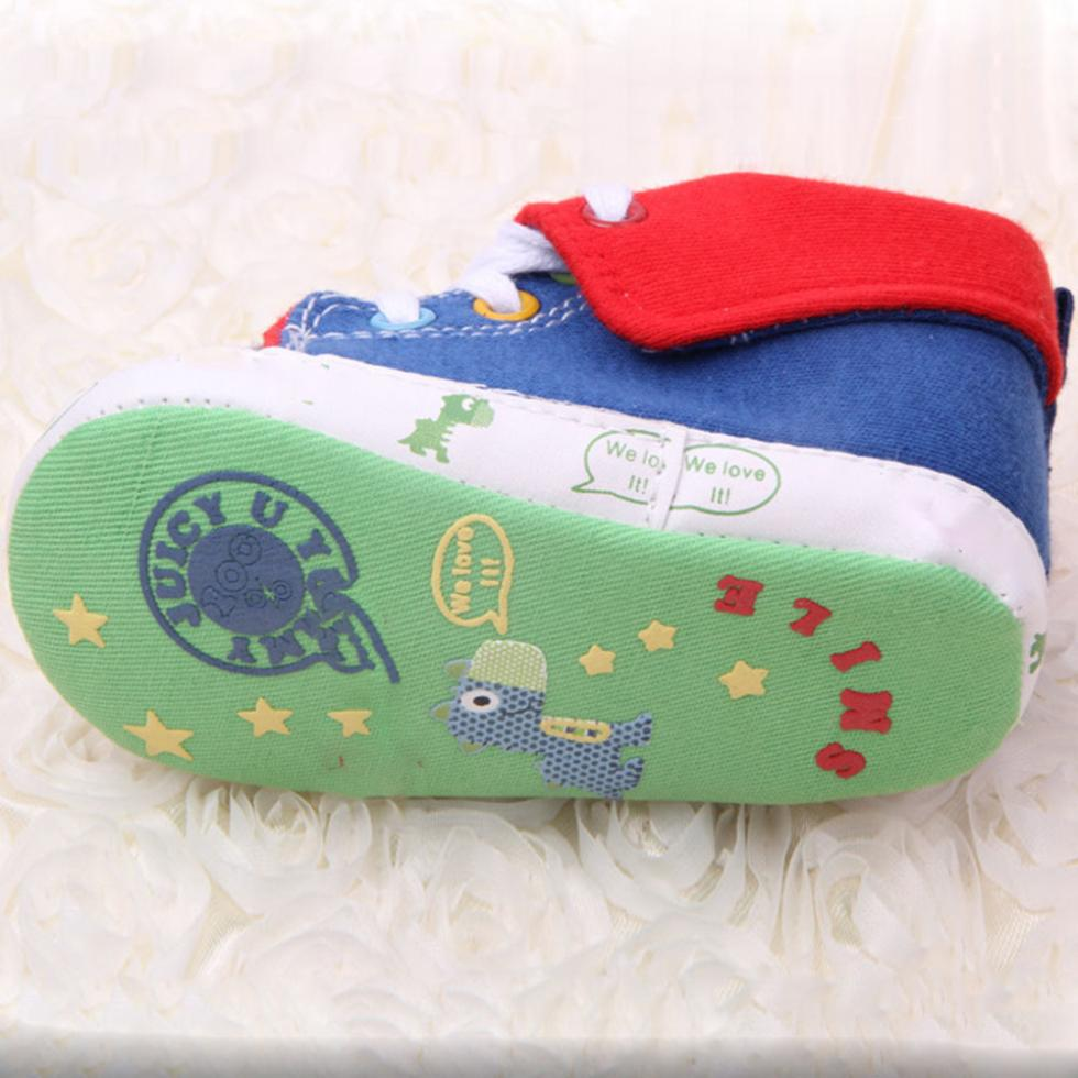 0 12M Casual Baby Boys Girls Cute Cartoon Print Laces Soft Sole Sneakers Shoes in First Walkers from Mother Kids