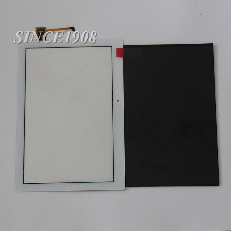 White For Lenovo TAB2 A10-70F A10-70 Tablet PC LCD Display + Touch Screen Digitizer Glass Parts+free tools hsd103ipw1 a10 hsd103ipw1 lcd displays screen