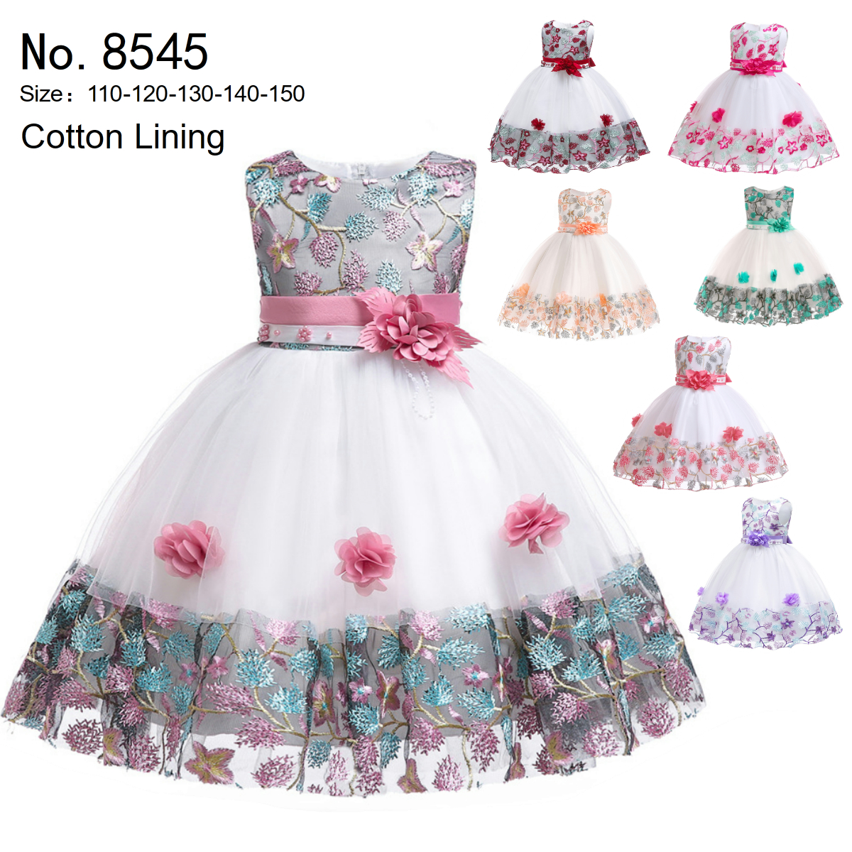 Free Shipping Cotton Lining Girl Dresses 2019 New Arrival Flower Girl Dresses For Weddings Party Gowns
