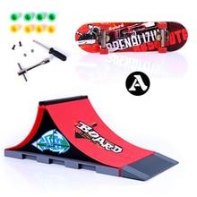 Fun Red Skate Park Ramp Track Finger Skate Board Indoor Table Game Parts for Desk Fingerboard