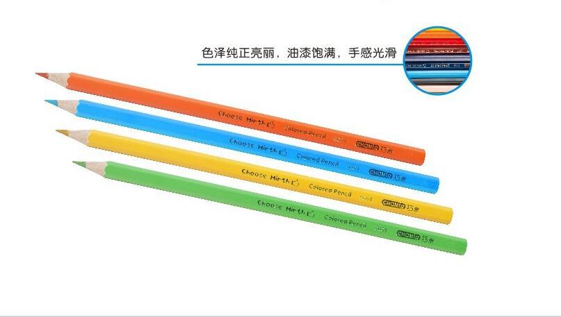 Qiao Mi 36 crayon de couleur pour l'école peint à la main crayons de croquis professionnel arc-en-ciel couleurs papeterie
