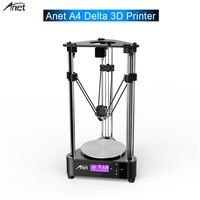 Original ANET A4 Delta DIY 3D Printer Aluminium Alloy Frame 3D DIY printer Optical Remote Filament Feeding Axis+Linear For Gift