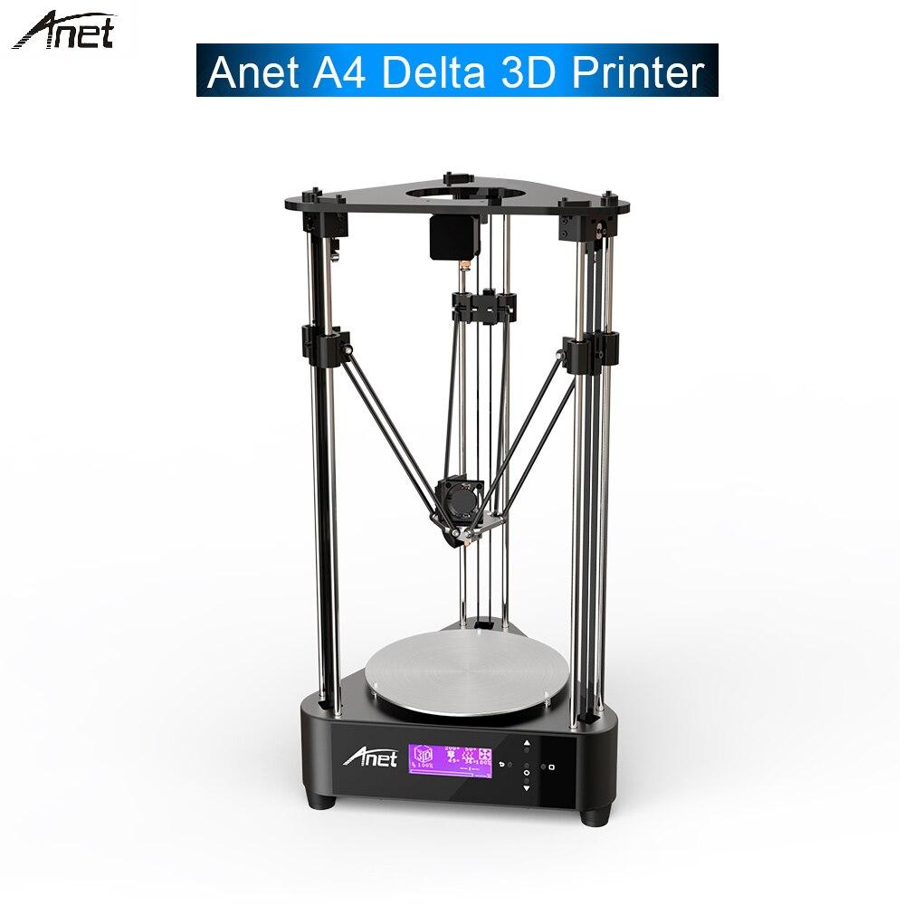 Original ANET A4 Delta bricolage 3D imprimante cadre en alliage d'aluminium imprimante 3D bricolage optique à distance Filament alimentation axe + linéaire pour cadeau