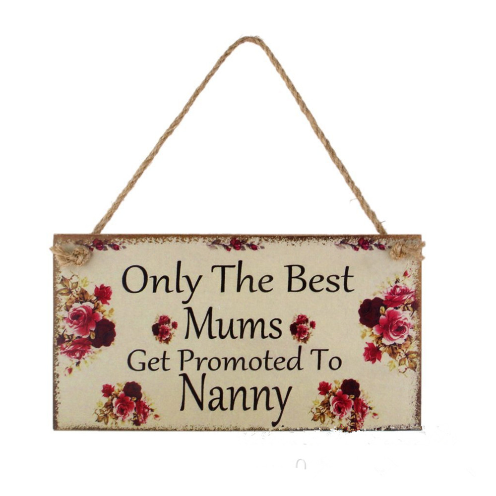 Unfinished wood picture frames craft - Mother 39 S Day Items Wood Craft Frame Hanging Wooden Wall Plaque Signs