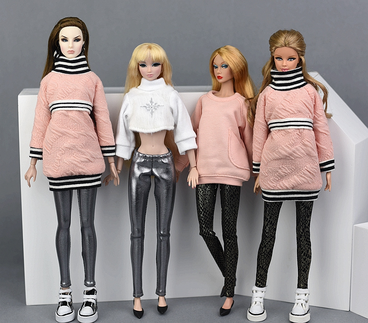 Fashion For Barbie Pants Micro-tight Skinny Trousers For Barbie One Piece Baby Gift 1/6 Doll Accessories