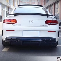 For Mercedes W205 coupe C63 Spoiler RT Style Sedan C Class C200 W205 Carbon Fiber Rear Spoiler Trunk Wing styling 2015 2018