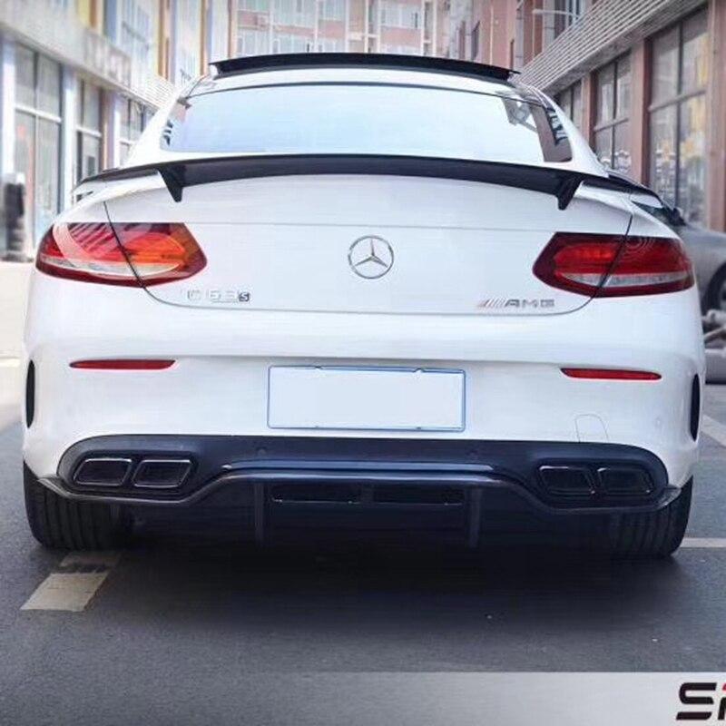 Pour Mercedes W205 coupé C63 Spoiler RT Style berline C classe C200 W205 fibre de carbone aileron arrière aile de coffre Style 2015-2018