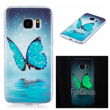 Luminous Case For coque Samsung Galaxy S7 Silicone Case Cover For Samsung S7 Case Cover S7 G930 G9300 5.1 inch sumsung(China)