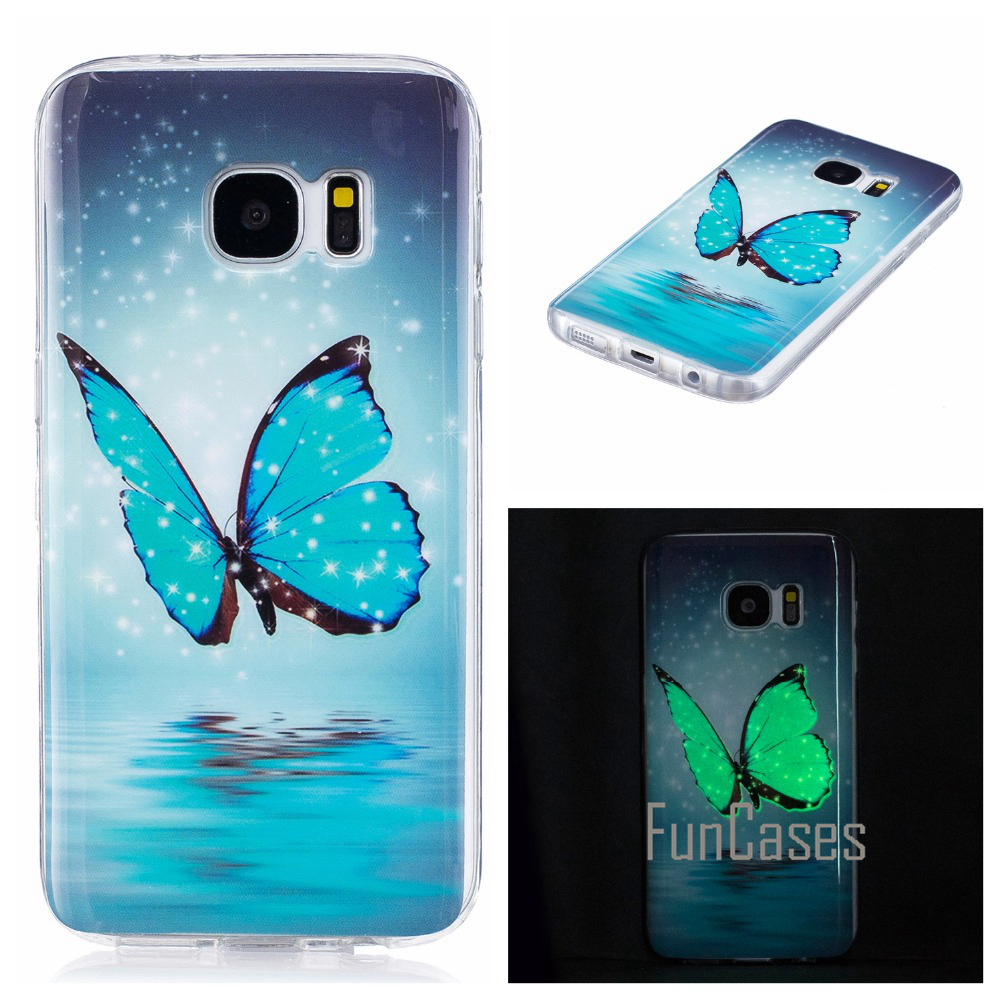 Luminous Case For coque Samsung Galaxy S7 Silicone Case Cover For Samsung S7 Case Cover S7 G930 G9300 5.1 inch sumsung