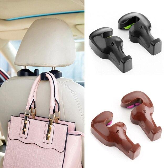 2pcs Car Seat Back Headrest Hanger Hooks Fastener Clip Interior
