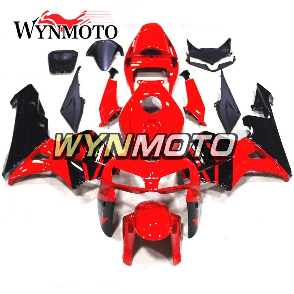 Full ABS Injection Plastics Fairings For CBR600RR F5 2005 2006 05 06 Motorbike Body frames Fairing Kit Panels Red Black Bodywork