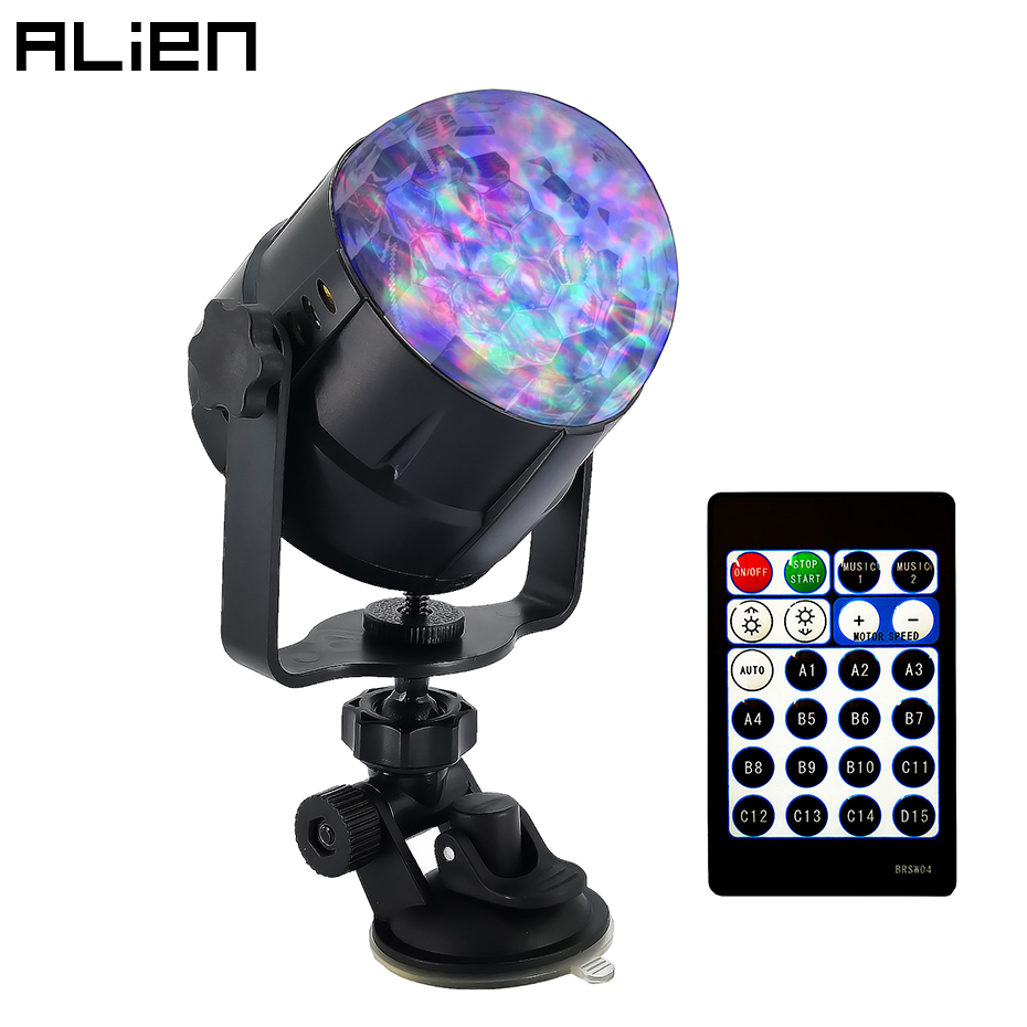 ALIEN 8W RGBW LED Disco Ball Strobe Light Waterwave Flame Sound Activated Stage Lighting Effect For DJ Party Holiday BirthdayALIEN 8W RGBW LED Disco Ball Strobe Light Waterwave Flame Sound Activated Stage Lighting Effect For DJ Party Holiday Birthday