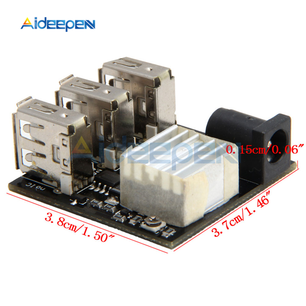Image 5 - 3 USB Mini Charging Module Step Down Power Charger Bank Board DC DC 9V/12V To 5V 8A Step Down Buck Converter For Arduino-in Instrument Parts & Accessories from Tools