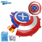 The Avengers Shield Water Gun with Goggles Soft & Water Bullets Captain America Shield Shooting Water Crystal Gun Toys