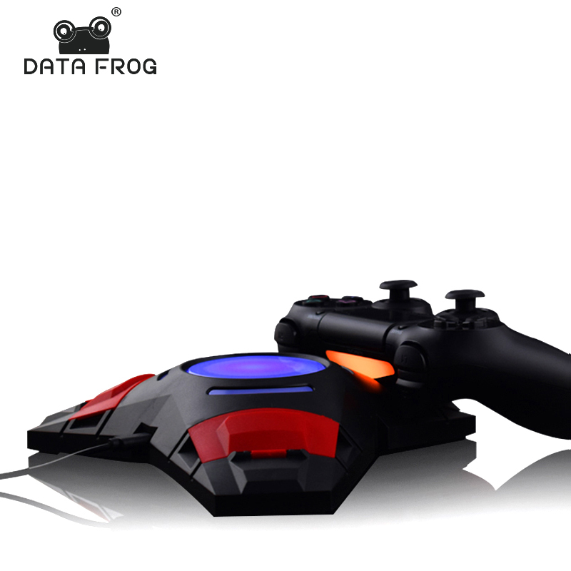Data Frog 3 In 1 USB Charge Dock Gaming Controller LED Charging Stand For Sony Playstation 4 PS4 Charger Triangle Dock
