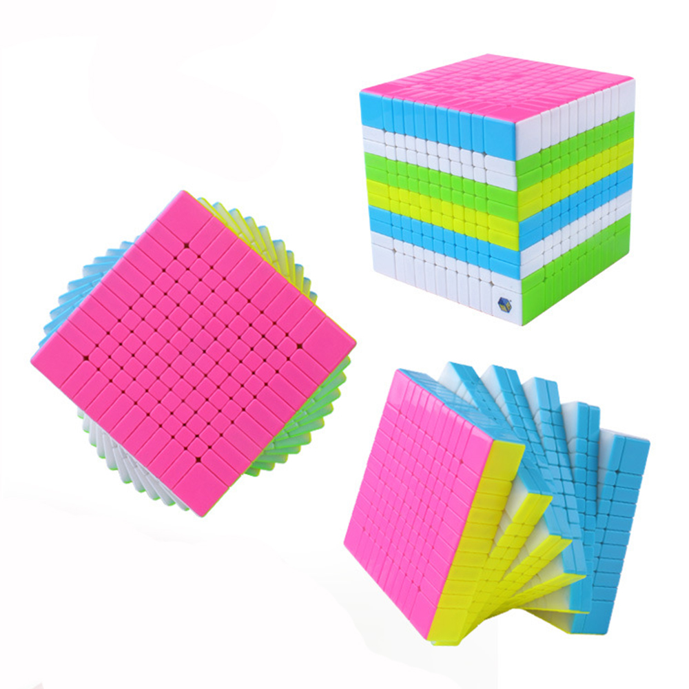 Yuxin Zhisheng Huanglong Stickerless 11x11x11 Speed Magic Cube Puzzle Game Cubes Educational Toys for Children Kids moyu aoshi 69mm 6x6x6 stickerless speed magic cube puzzle cubes kids educational toys pink