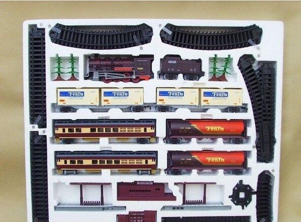 Frete grátis! trem a vapor longo 9.4 metros de trem trilha trens de brinquedo elétrico para crianças caminhão para meninos ferroviário presente aniversário - 3