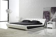 comfortable bed PU+PVC modern soft bed leather soft bed large size bed-C326(China)